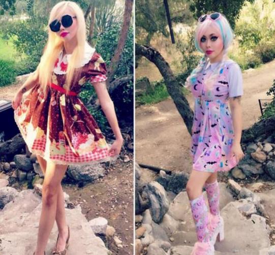 洛杉矶女子Ophelia Vanity整容 花费数万美元变成真人芭比